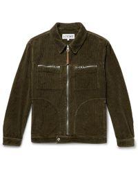 Loewe - Cotton-corduroy Jacket - Lyst