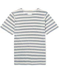 Albam - Striped Cotton-jersey T-shirt - Lyst