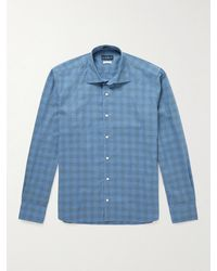 Peter Millar Checked Cotton Shirt - Blue