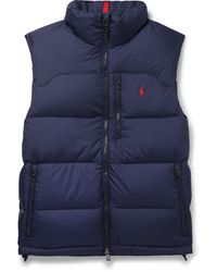 Polo Ralph Lauren Quilted Shell Down Gilet - Blue