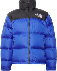 The North Face 1996 Retro Nuptse Quilted Shell And Ripstop Hooded Down Jacket - Blue