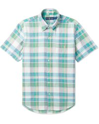 Polo Ralph Lauren - Button-down Collar Checked Cotton-blend Shirt - Lyst