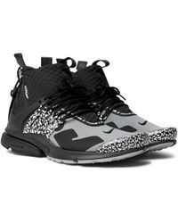 601034f3cb3e Nike - + Acronym Air Presto Mid Leather And Rubber-trimmed Mesh Sneakers -  Lyst