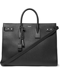 Saint Laurent - Sac De Jour Large Full-grain Leather Tote Bag - Lyst