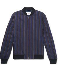 Mr P. Black Unstructured Worsted Wool Blazer