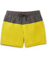 Theory - Cosmos Mid-length Colour-block Stretch-shell Swim Shorts - Lyst