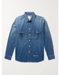Visvim Lumber Distressed Denim Shirt - Blue