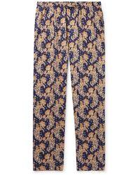 Zimmerli Floral-print Cotton Pyjama Pants - Blue