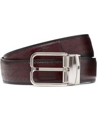 Berluti 3.5cm Scritto Reversible Leather Belt - Brown