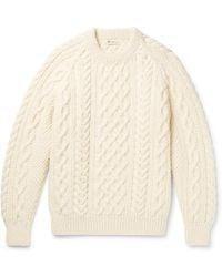 CONNOLLY - Aran-knit Wool Jumper - Lyst