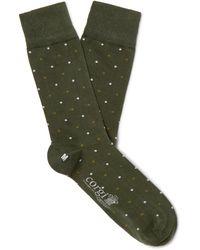Kingsman Corgi Polka-dot Cotton-blend Socks - Green
