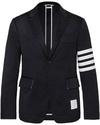 Thom Browne Striped Blazer - Blue