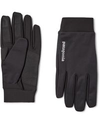 Patagonia Logo-print Wind Shield Gloves - Black