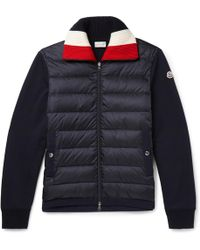 Moncler - Panelled Fleece-back Cotton-jersey And Quilted Shell Down Jacket - Lyst