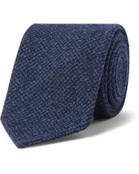 Drake's - 8cm Puppytooth Woven Tie - Lyst