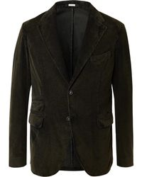 Massimo Alba Cotton-corduroy Suit Jacket - Green