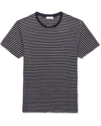 Sandro - Striped Linen T-shirt - Lyst