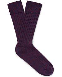 The Workers Club - Mélange Merino Wool-blend Socks - Lyst