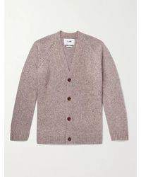 NN07 Viggo Mélange Merino Wool-blend Cardigan - Grey