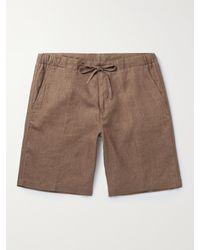 Loro Piana Slim-fit Linen Drawstring Bermuda Shorts - Brown
