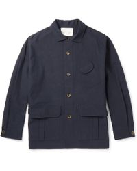 Studio Nicholson - Washed Cotton And Linen-blend Jacket - Lyst