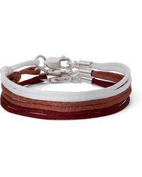 Rubinacci Set Of Three Silk Bracelets - Multicolour