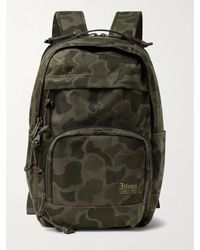 Filson Dryden Leather-trimmed Cordura Backpack - Green