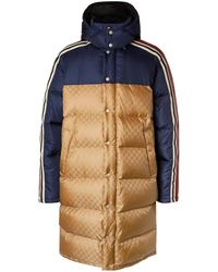 Gucci Oversized Quilted Logo-jacquard Shell Hooded Down Jacket - Yellow