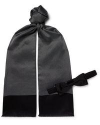 BOSS by Hugo Boss Polka-dot Silk Scarf And Pre-tied Bow Tie Set - Blue