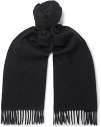 BOSS - Fringed Cashmere Scarf - Lyst