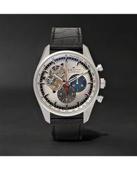 Zenith El Primero Chronomaster 1969 42mm Stainless Steel And Alligator Watch - Metallic