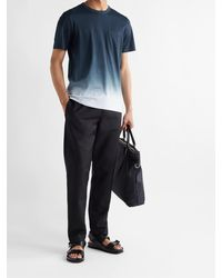 Theory Essential Dip-dyed Pima Cotton-jersey T-shirt - Blue