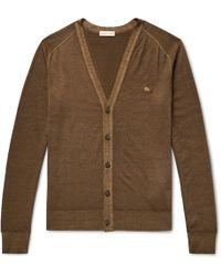 Etro - Slim-fit Garment-dyed Merino Wool Cardigan - Lyst