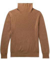 Rollneck Cashmere Daniel Row Lyst The Ribbed Sweater qxvgFwF