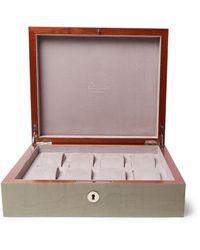 Rapport London Heritage Walnut Wood Watch Case - Gray