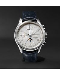 Baume & Mercier - Clifton Automatic Chronograph 43mm Stainless Steel And Alligator Watch - Lyst