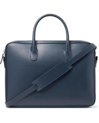 Mansur Gavriel Leather Briefcase - Blue
