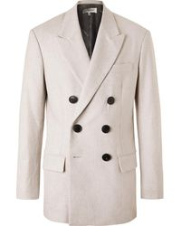Isabel Marant Gaxen Double-breasted Mélange Wool Blazer - Grey