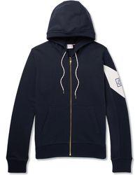 Moncler Gamme Bleu - Fleece-back Cotton-jersey Zip-up Hoodie - Lyst