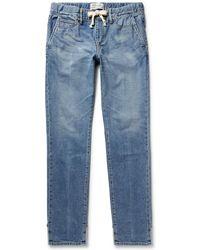 Remi Relief Slim-fit Stretch-denim Drawstring Jeans - Blue
