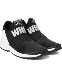 White Mountaineering + Adidas Zx Flux Plus Sneakers - Black