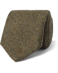 James Purdey & Sons 8cm Cashmere-tweed Tie - Green