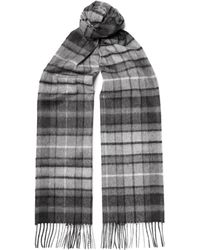 Johnstons - Checked Cashmere Scarf - Lyst