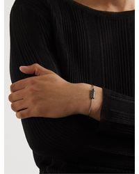 Le Gramme Brushed Blackened Sterling Silver Cable Bracelet