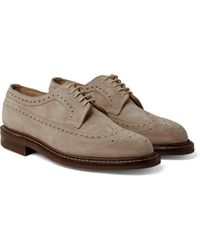Cheaney - Woodchurch Suede Longwing Brogues - Lyst