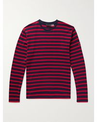 Armor Lux Slim-fit Striped Cotton-jersey T-shirt - Red