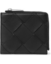 Bottega Veneta - Intrecciato Leather Zip-around Wallet - Lyst