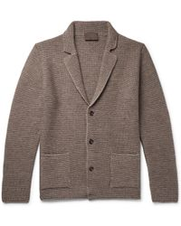 Altea - Slim-fit Wool-blend Cardigan - Lyst