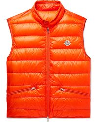 Details about Moncler Amiens Quilted Shell Hooded Down Gilet in Burgundy