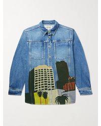 Loewe Ken Price La Series Printed Denim Jacket - Blue